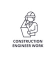 construction engineer talk line icon sign vector image vector image