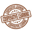 Cooperative learning brown grunge stamp