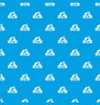 creative 3d printing pattern seamless blue vector image vector image