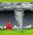 cyclone hit the rural area vector image vector image