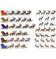 deer sled vector image vector image