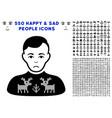 deers pullover boy icon with bonus vector image