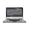 drawing laptop technology system protection vector image vector image