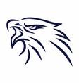 eagle mascot line logo sports mascot vector image vector image