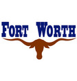 flag of city fort worth in texas usa vector image