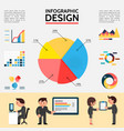 flat abstract infographic template vector image vector image