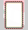 frame and border of ribbon with sudan flag vector image vector image