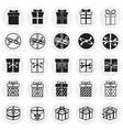gift icons set on circles background for graphic vector image vector image