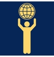 Globalist icon from Business Bicolor Set vector image