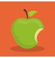 Green apple biten vector image vector image