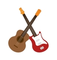 guitars instrument isolated icon vector image vector image