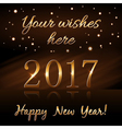 Happy New Year background gold rain vector image
