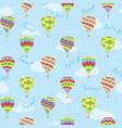 hot air balloons travel repeat pattern vector image