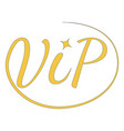 icon sign vip very important person vector image