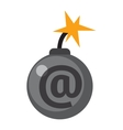 Internet safety icon isolated vector image vector image