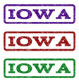iowa watermark stamp vector image vector image