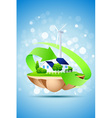 island fly wind power station power station wi vector image vector image