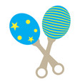 isolated baby shaker icon vector image