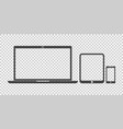 laptop tablet phone icon flat vector image vector image