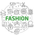 line flat circle fashion vector image vector image