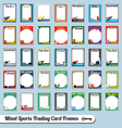 Mixed Sports Trading Cards vector image vector image