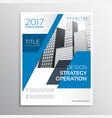 modern blue business brochure template design vector image vector image