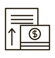 money banknote increase report business financial vector image vector image
