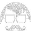 Moustache man icon vector image vector image