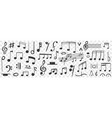 musical notes drawings doodle set vector image vector image