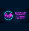 neon sign of chinese hieroglyph means harmony in vector image vector image