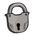 Old lock vector image vector image