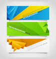Origami polygonal abstract banners collection vector image