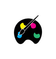 paint icon artist symbol vector image vector image