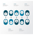 person outline icons set collection of user male vector image vector image