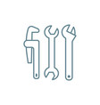 plumbing tools linear icon concept plumbing tools vector image