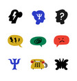 psychology psychological counseling icons vector image vector image