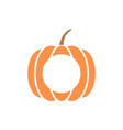 pumpkin monogram template isolated vector image