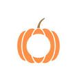 pumpkin monogram template isolated vector image