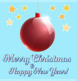 red cristmas glass ball 3d with text vector image