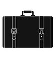 retro suitcase icon simple style vector image