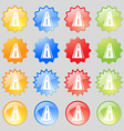 Road icon sign Big set of 16 colorful modern vector image vector image