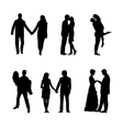 Romance and love silhouettes vector image
