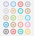 Round Simple Icons vector image vector image