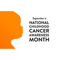 september is national childhood cancer awareness vector image vector image