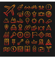 set 46 travel icons vector image vector image