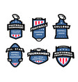 set of american football logos emblems labels vector image vector image