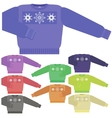 Set of Colorful Sweaters for Men vector image