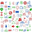 set sketch icons for site or mobile application vector image vector image