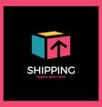 shipping box logo vector image vector image