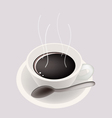 Smoking Hot Coffee Background vector image vector image